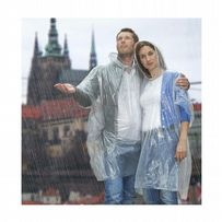 Silver Hooded Disposable Rain Ponchos